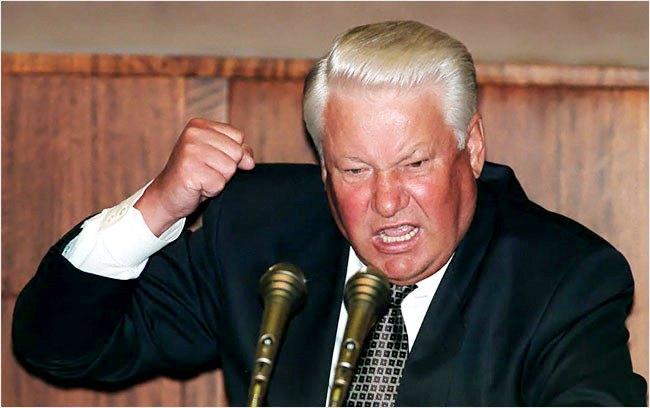 Б Ельцин с критикой