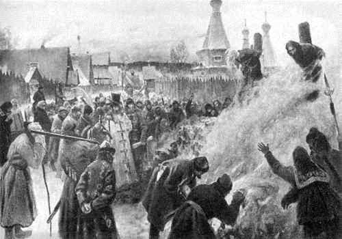 созжение Аввакума по приказу Федора Алексеевича